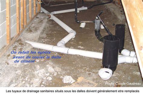 drain plancher garage remblai et pyrite r 233 novation compl 232 te de sous sol et garage