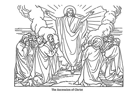 free coloring pages jesus ascension the ascension 2014 colouring pages baildon methodist