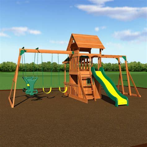 playground swing sets cedar wood swing set playground outdoor backyard fort
