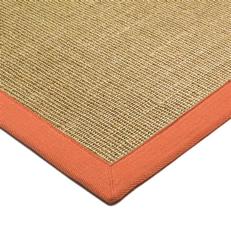 rugs with borders sisal rugs with orange border from only 163 59