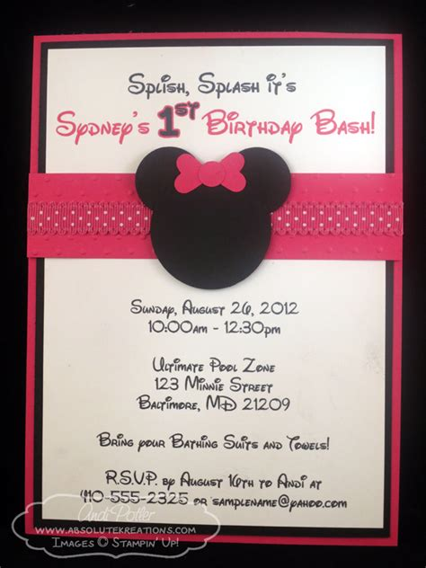 Pageplus Minimouse Greeting Card Template by Minnie Mouse Birthday Invitations Ideas Bagvania Free
