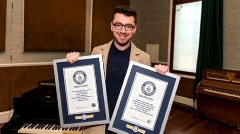 This Just In The Official Smith Certificate by Sam Smith Has Just Broken Two Major Guinness World Records