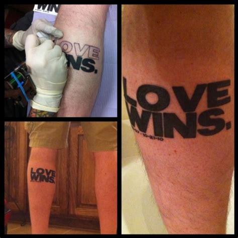 Tattoo Love Wins   leave a mark