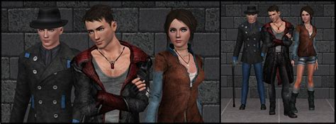 mod the sims dante devil may cry 4 the sims 3 dmc dante vergil and kat by tx slade xt on