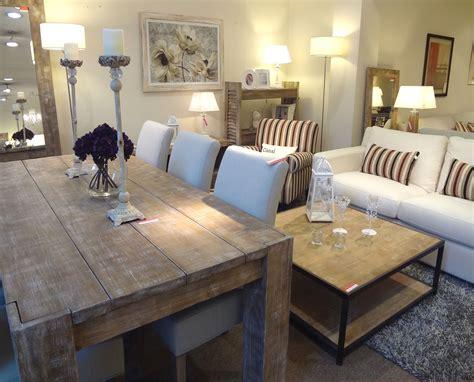 mesa rustica  sillas torino atras mesa de centro en