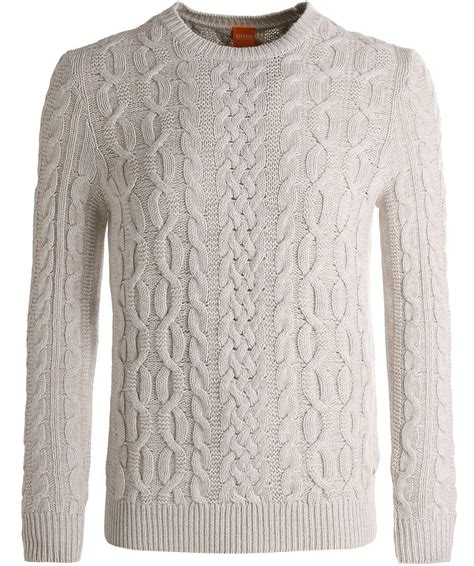 cable knit jumper orange white wool kaasly cable knit jumper jules b