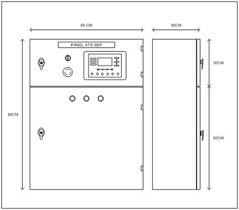 Panel Ats Amf 20 Kva adham shan panel listrik panel ats amf