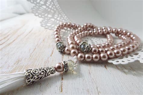 Tasbih Batu Alam Pink 33 pearl tasbih tasbeeh 99 ramadan muslim eid gift prayer