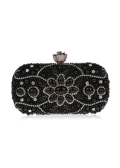 Clutch With Pearl 11 1 E1 1 in stock popualr evening clutches with rhinestones pearls adasbridal