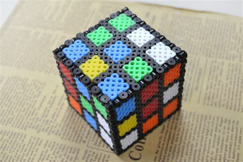 how to make 3d perler perler bead rubik s cube family crafts