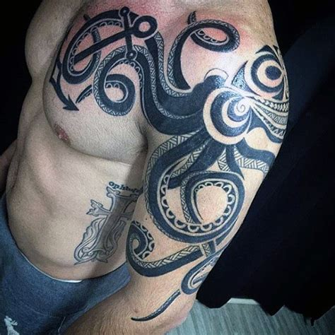 tribal squid tattoo 60 octopus arm designs for cool ink ideas