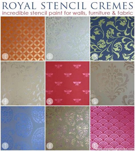 stencil creme paints with sloan chalk paint royal design studio stencils
