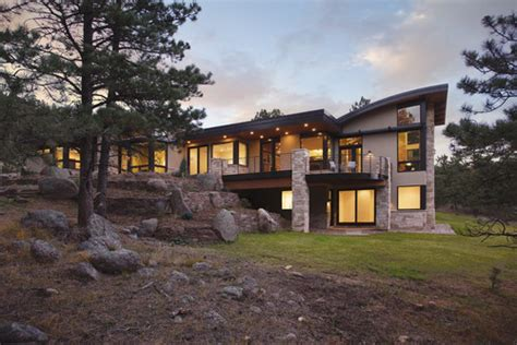 Contemporary House Plans With Walkout Basement by Pine Brook Boulder Mountain Residence Exterior 183 More Info