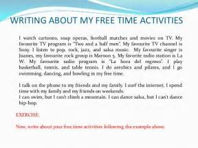 My Favorite Singer Essay by Leisure Activities