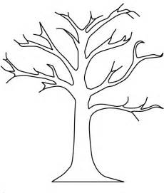 fall tree template tree without leaves coloring page to print and