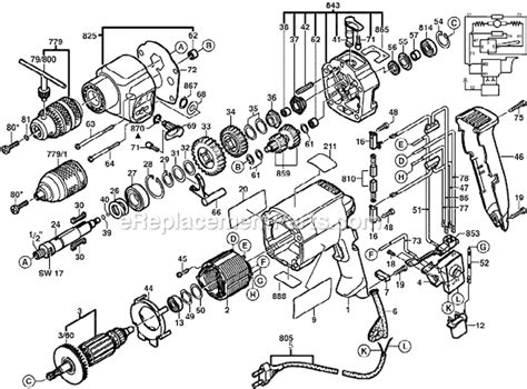 Armature Angker Gsb 16re Bosch Bull bosch gsb20 2re parts list and diagram 0601194703 ereplacementparts