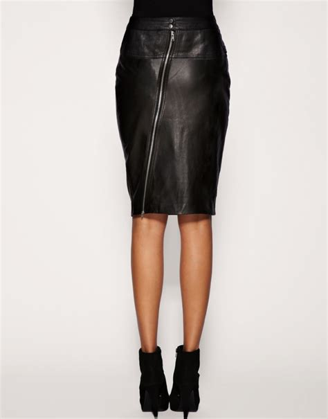 leather pencil skirt with zipper sheplanet