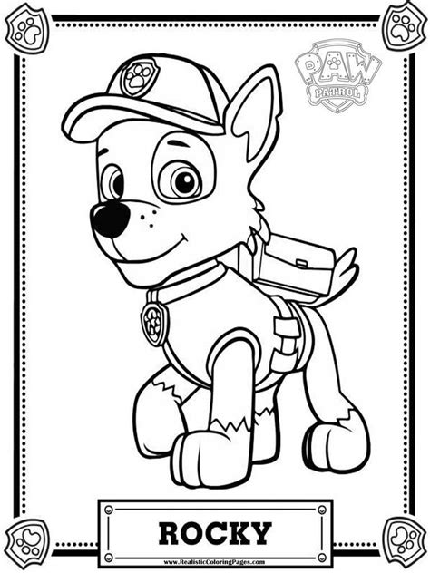 coloring pages paw patrol rocky rocky paw patrol coloring pages sketch coloring page