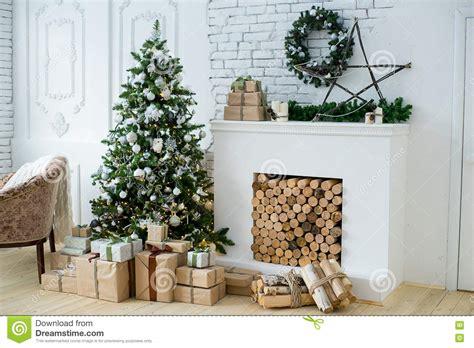 interior eco style stock image image of firewood background 80794311