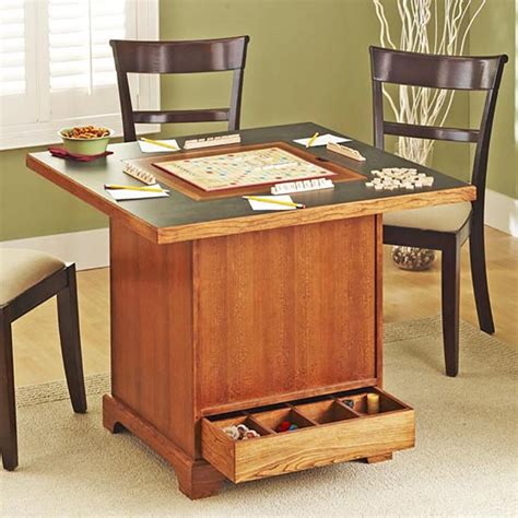 store it all game table woodworking plan from wood magazine