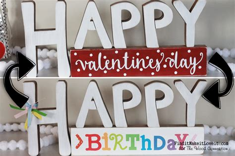 birthday on valentines day happy s day block decor the wood