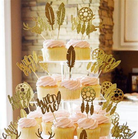 Boho Cupcake Topper Set Wild One Topper Dream By