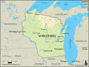 Wisconsin Map Usa by Geographical Map Of Wisconsin And Wisconsin Geographical Maps