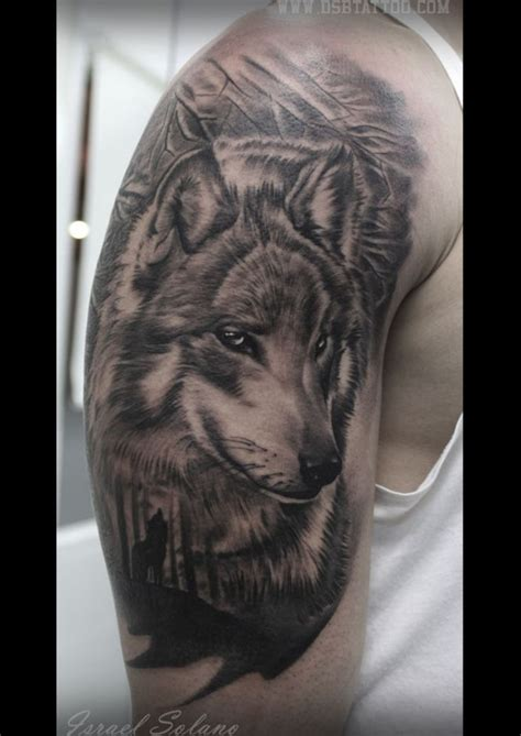 israel tattoo lobo bosque israel solano madrid tatoos