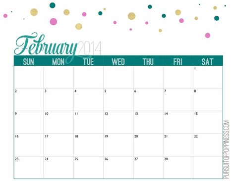 make free calendars online printable february 2014 free printable calendar create pinterest