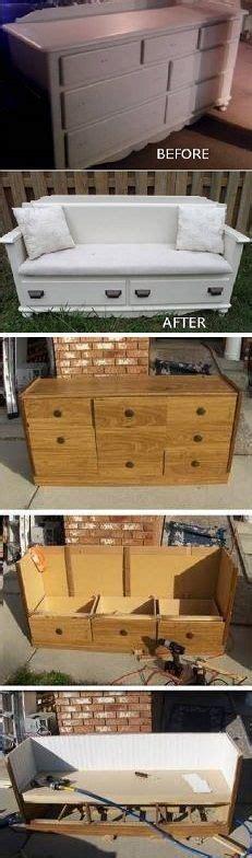 dresser to bench dresser to bench on pinterest dresser bench burlap