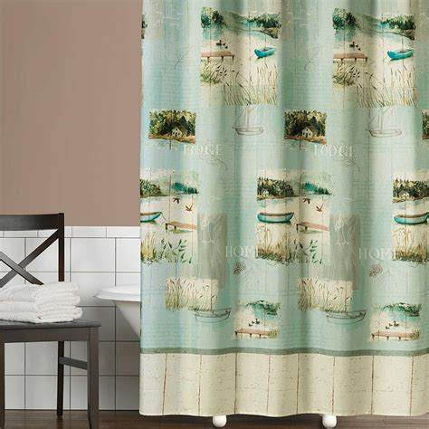 Lodge Shower Curtains Clearance Lodge Outhouse Shower Curtain Accessories Cabin Place