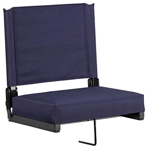 bleacher chairs with backs bleacher seats with backs navy stadium chair cushion comfy