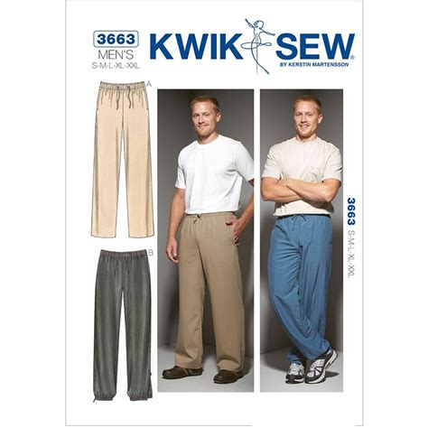 sewing pattern jeans mens mens pants kwik sew sewing pattern no 3663 sew essential