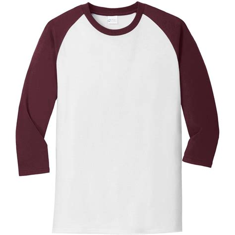 Tshrit Basic Slim Grey Navy White Maroon port company pc55rs 3 4 sleeve raglan t shirt white athletic maroon fullsource