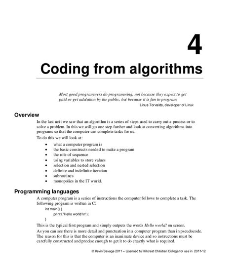 guide to competitive programming learning and improving algorithms through contests undergraduate topics in computer science books 4 coding from algorithms