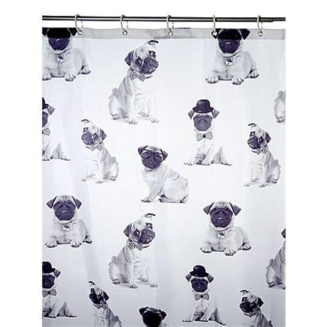 pug shower curtain george home pugs shower curtain bathroom accessories