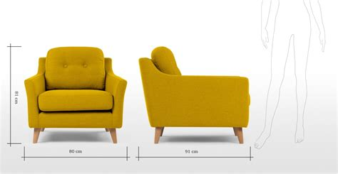 made com armchair armchair in mustard yellow rufus made com