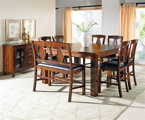 lakewood medium oak extendable rectangular counter height