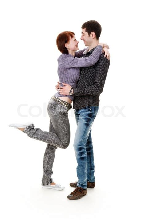 Log Home Floor Plans And Prices young woman and man standing on the floor hugging and