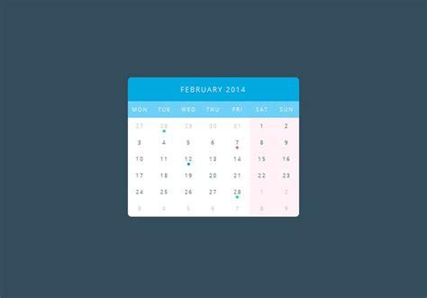 calendar design html5 pure css3 calendar calendar code css css3 flat