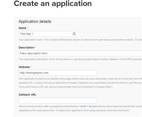 twitter api layout create your twitter api oauth settings the mighty mo