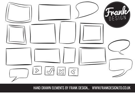 hand drawn vector tutorial frame vectors and speech bubble vectors free vector art