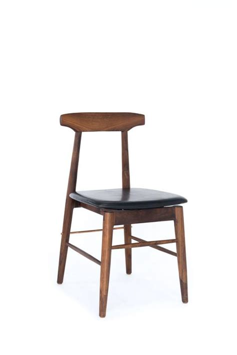 Black Dining Chairs For Sale Walnut And Black Leather Dining Chair For Sale At 1stdibs