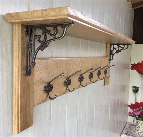 details  vintage style solid wood oak coat rack