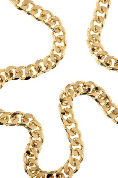 Celestina Or Stella Mccartney by Stella Mccartney Brass Chain Necklace Net A Porter