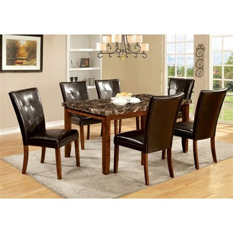 elmore antique oak faux marble top dining set shop for
