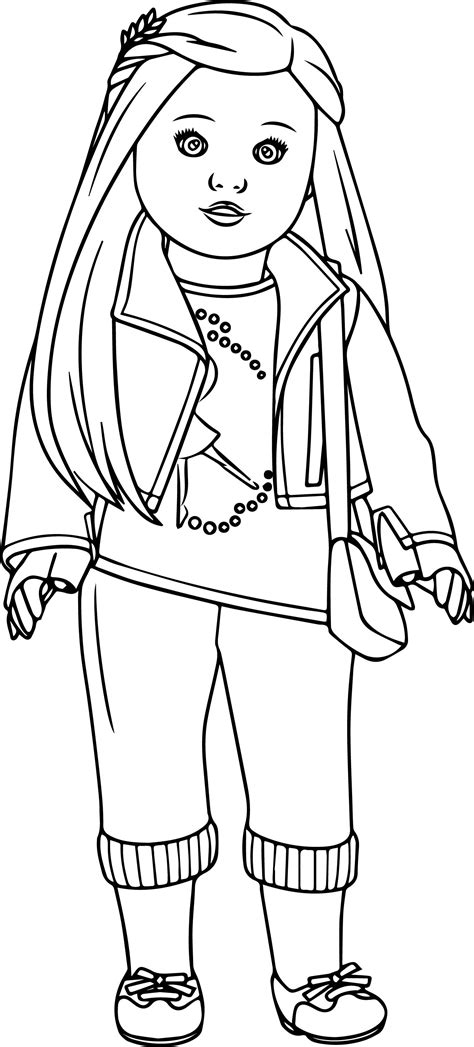 American Doll Coloring Page | american girl doll coloring pages bestofcoloring com