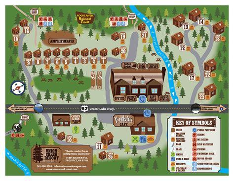 map of union oregon cabin 22 union creek resort