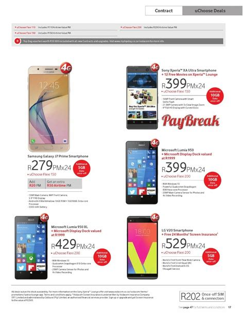 vodacom prepaid deals vodacom specials 7 february 6 march 2017