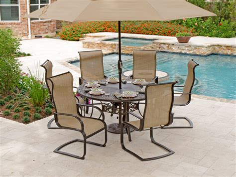 Aluminum Sling Patio Furniture Comfortable Seating For Sling Patio Furniture Sets